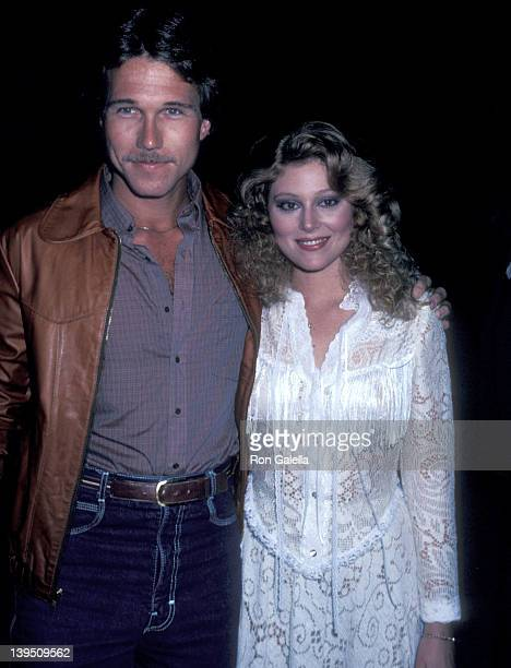 Actress Audrey Landers and date Ed Bessell attend the Dallas Fourth Season WrapUp Party on April 11 1981 at Cattle Baron Restaurant in Los Angeles...