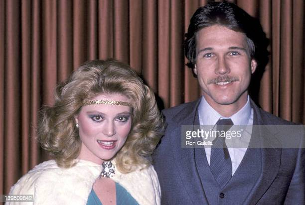 Actress Audrey Landers and date Ed Bessell attend the WrapUp Cast Parties for the Fifth Season of 'Dallas' and Third Season of 'Knots Landing' on...