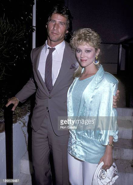 Actress Audrey Landers and date Jon Feltheimer on August 19, 1986 dine at Spago in West Hollywood, California.