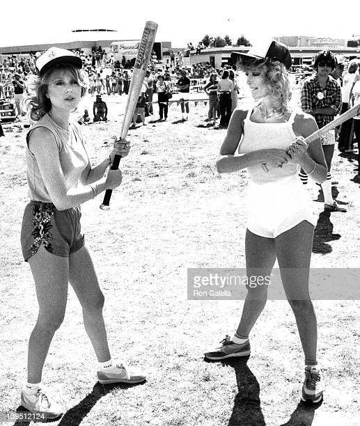 Actress Audrey Landers and Judy Landers attend Celebrity Softball Game Benefiting Nevada Special Olympics on April 18 1982 at the Dunnes Hotel in Las...