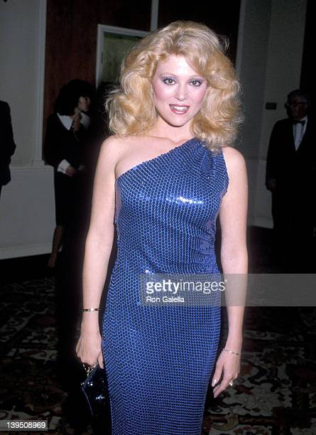 Actress Audrey Landers attend the B'nair B'rith International Honors Lee Rich on October 30 1983 at Beverly Hilton Hotel in Beverly Hills California