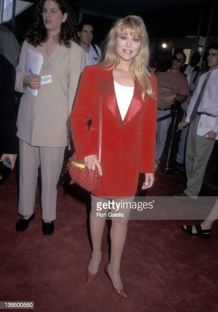 Actress Audrey Landers attend the Kazaam New York City Premiere on June 26 1996 at Cineplex Odeon Theater in New York City