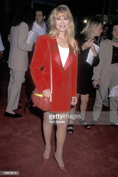 Actress Audrey Landers attend the 'Kazaam' New York City Premiere on June 26 1996 at Cineplex Odeon Theater in New York City