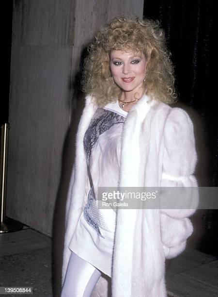 Actress Audrey Landers attends 'A Chorus Line' Century City Premiere on December 2 1985 at Plitt's Century Plaza Theatres in Century City California