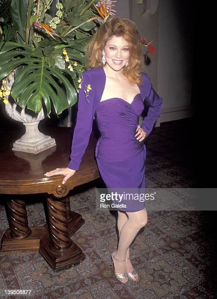 Actress Audrey Landers attends her opening night singing engagment on March 5 1991 at the Hollywood Roosevelt Cinegrill in Hollywood California