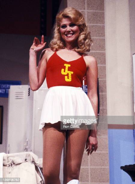 Actress Audrey Landers attends the 'Bob Hope's AllStar Super Bowl Party' Television Special Taping on January 26 1983 at Pasadena Civic Auditorium in...