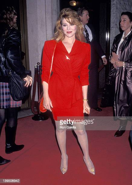 Actress Audrey Landers attends the 'Shadowlands' Westwood Premiere on December 5 1993 at Mann National Theatre in Westwood California