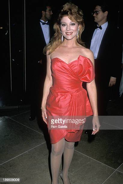 Actress Audrey Landers attends the Sixth Annual Soap Opera Digest Awards on January 14 1990 at Beverly Hilton Hotel in Beverly Hills California
