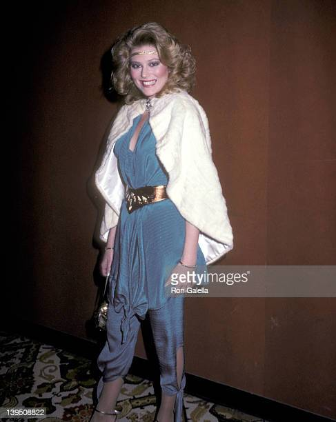 Actress Audrey Landers attends the WrapUp Cast Parties for the Fifth Season of 'Dallas' and Third Season of 'Knots Landing' on February 6 1982 at...