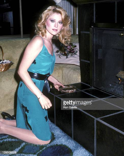 Actress Audrey Landers on April 21 1982 poses for an exclusive photo session at their home in Beverly Hills California