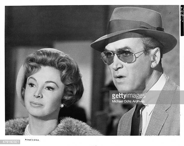 Actress Audrey Meadows and actor James Stewart in a scene from the movie 'Take Her She's Mine' circa 1963