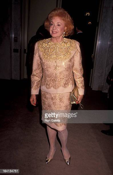 Actress Audrey Meadows attending 'Party for Ronald Reagan' on November 3 1991 at the Beverly Wilshire Hotel in Beverly Hills California