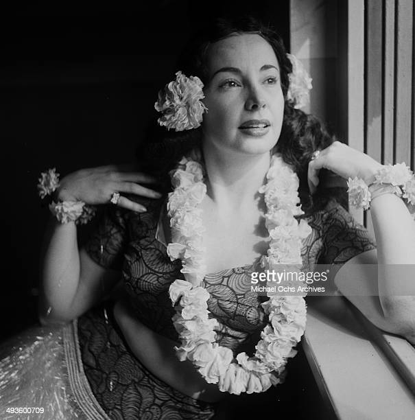 Actress Audrey Meadows poses after the rehearsal of the 'The Jackie Gleason Show' in Los Angeles California
