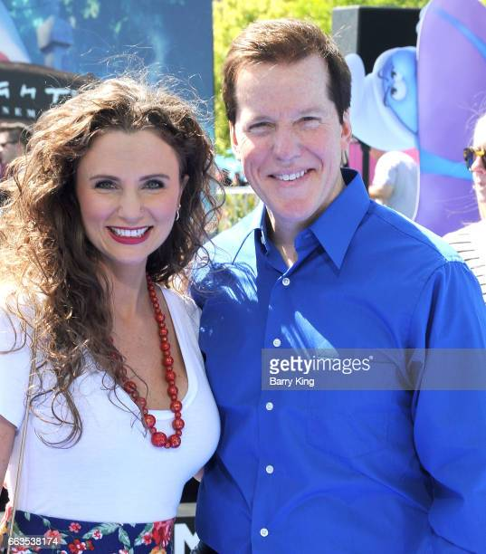 Actress Audrey Murdick and actor Jeff Dunham attend the premiere of Sony Pictures' 'Smurfs The Lost Village' at ArcLight Cinemas on April 1 2017 in...