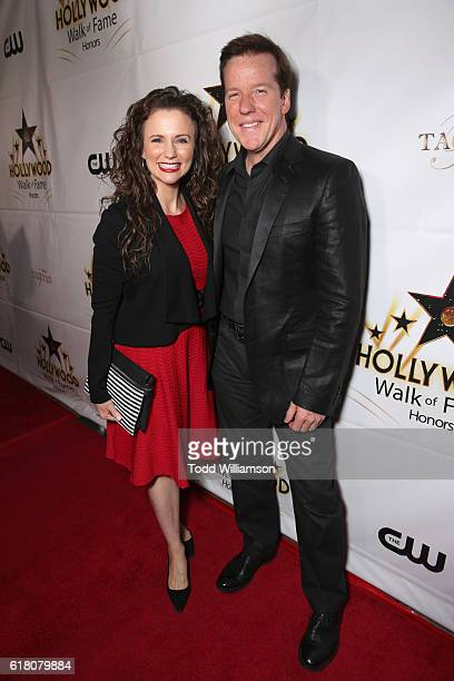 Actress Audrey Murdick and ventriloquist Jeff Dunham attend the Hollywood Walk of Fame Honors at Taglyan Complex on October 25 2016 in Los Angeles...