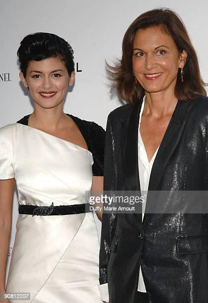 Actress Audrey Tautou and Director Anne Fontaine attend the Coco Before Chanel New York Premiere at the Paris Theatre on September 15 2009 in New...