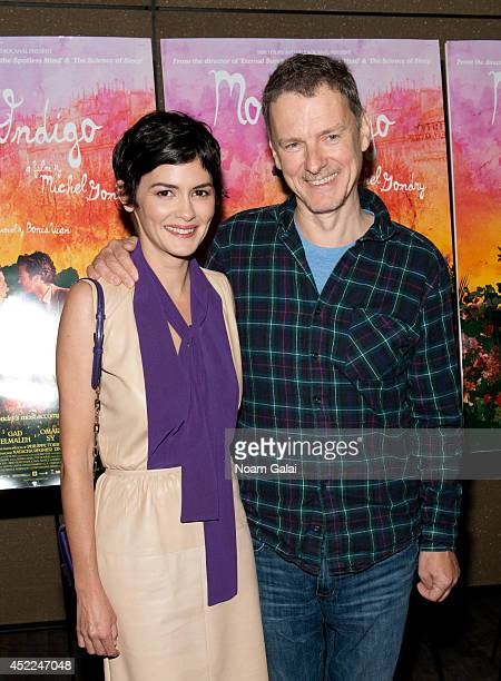 Actress Audrey Tautou and director Michel Gondry attend the 'Mood Indigo' New York Premiere at Tribeca Grand Hotel on July 16 2014 in New York City