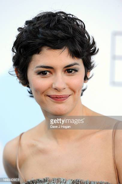 Actress Audrey Tautou attends amfAR's 20th Annual Cinema Against AIDS during The 66th Annual Cannes Film Festival at Hotel du CapEdenRoc on May 23...