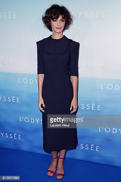 Actress Audrey Tautou attends L'Odyssee Paris Premiere at Cinema UGC Normandie on October 3 2016 in Paris France