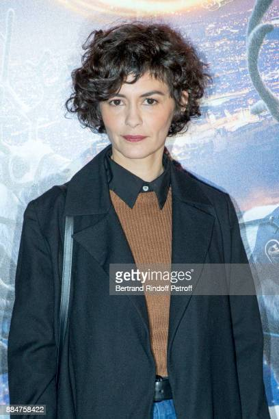 Actress Audrey Tautou attends Santa Cie Paris Premiere at Cinema Pathe Beaugrenelle on December 3 2017 in Paris France