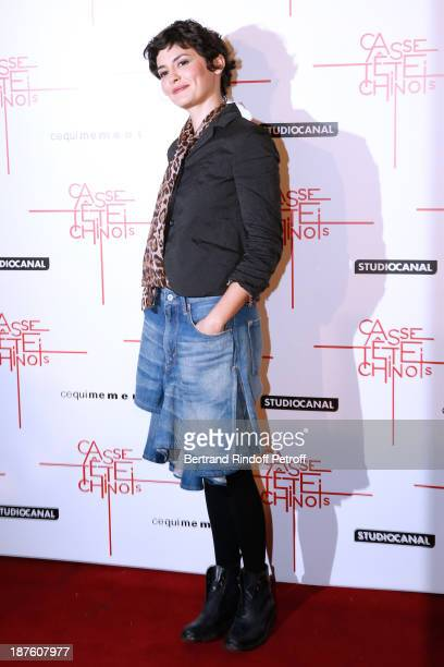 Actress Audrey Tautou attends screening of the movie 'Casse Tete Chinois' at Le Grand Rex on November 10 2013 in Paris France