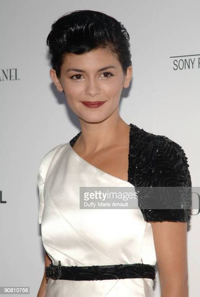 Actress Audrey Tautou attends the Coco Before Chanel New York Premiere at the Paris Theatre on September 15 2009 in New York City