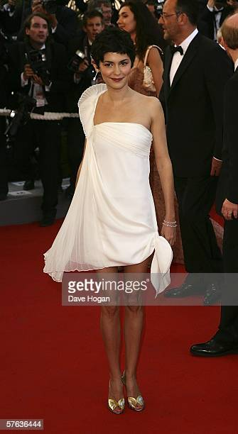 Actress Audrey Tautou attends 'The Da Vinci Code' World Premiere Opening Gala at the Palais during the 59th International Cannes Film Festival May 17...