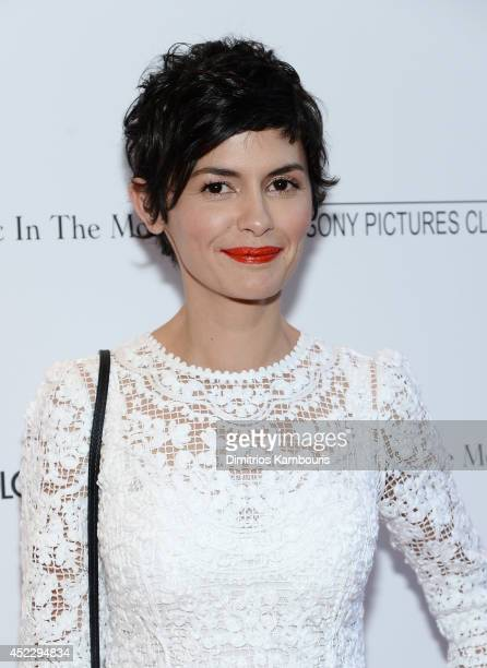 Actress Audrey Tautou attends the Magic In The Moonlight premiere at the Paris Theater on July 17 2014 in New York City
