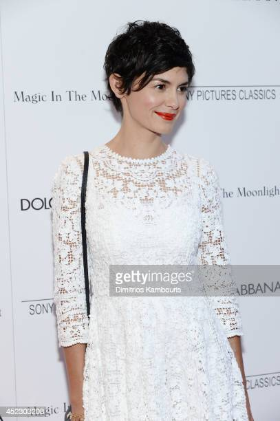 Actress Audrey Tautou attends the 'Magic In The Moonlight' premiere at the Paris Theater on July 17 2014 in New York City