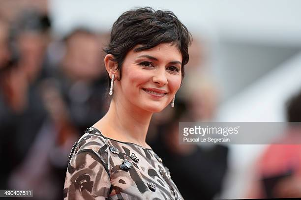 Actress Audrey Tautou attends the Opening ceremony and the Grace of Monaco Premiere during the 67th Annual Cannes Film Festival on May 14 2014 in...