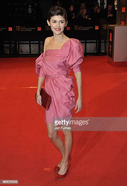 Actress Audrey Tautou attends the Orange British Academy Film Awards 2010 at the Royal Opera House on February 21 2010 in London England