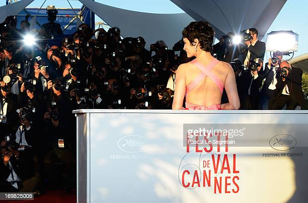 Actress Audrey Tautou attends the Palme D'Or Winners Photocall during the 66th Annual Cannes Film Festival at the Palais des Festivals on May 26 2013...