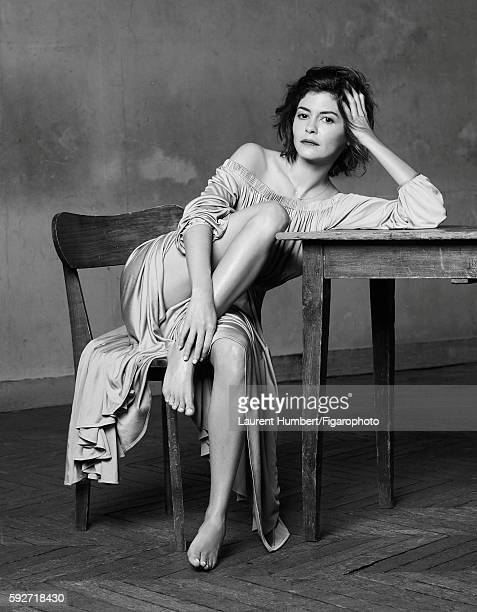 Actress Audrey Tautou is photographed for Madame Figaro on May 25 2016 in Paris France Dress Liens necklace PUBLISHED IMAGE CREDIT MUST READ Laurent...