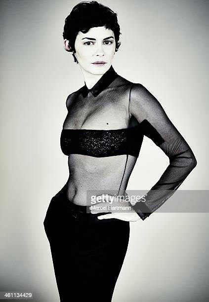 Actress Audrey Tautou is photographed for Self Assignment on October 21 2013 in Paris France