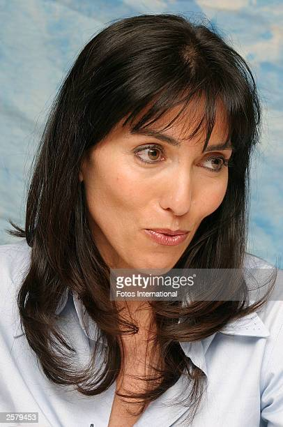 OUT*** Actress Audrey Wells attends the press conference for her new film Under the Tuscan Sun at the Four Seasons Hotel on September 13 2003 in...