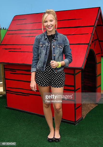 Actress Audrey Whitby attends the Camp Snoopy's 30th anniversary VIP party at Knott's Berry Farm on June 26 2014 in Buena Park California