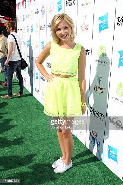 Actress Audrey Whitby attends Variety's Power of Youth presented by Hasbro Inc and generationOn at Universal Studios Backlot on July 27 2013 in...