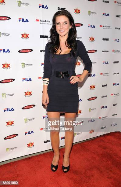 Actress Audrina Partridge arrives at the launch party for Sportie LA's new Special Edition Melrose women's footwear by Fila on December 10 2008 in...