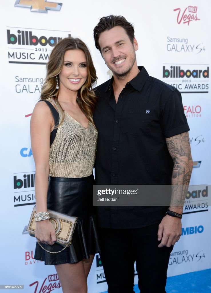 Actress Audrina Patridge (L) and Corey Bohan arrive at the 2013 Billboard Music Awards at the MGM Grand Garden Arena on May 19, 2013 in Las Vegas, Nevada.