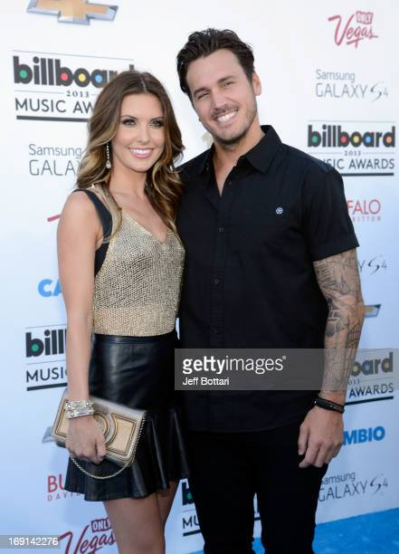 Actress Audrina Patridge and Corey Bohan arrive at the 2013 Billboard Music Awards at the MGM Grand Garden Arena on May 19 2013 in Las Vegas Nevada