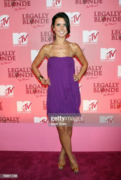 Actress Audrina Patridge arrives at a special MTV taping of Legally Blonde the musical at the Palace Theater September 18 2007 in New York City