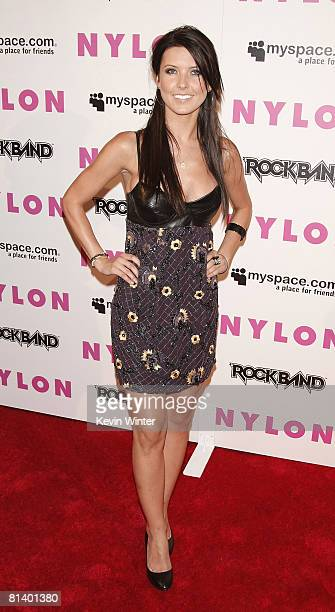 Actress Audrina Patridge arrives at Nylon Magazine and MySpace's party to celebrate their 3rd Annual Music Issue on June 3 2008 in Los Angeles...