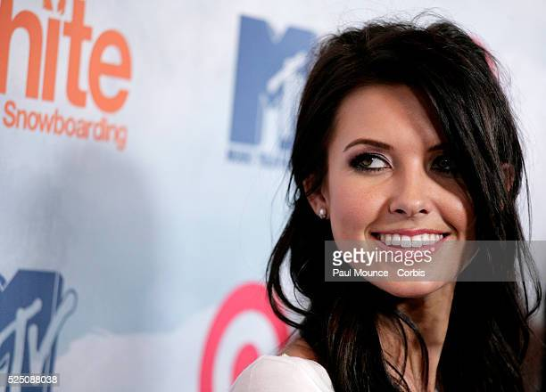 Actress Audrina Patridge arrives at the launch party for Ubisoft's new video game Shaun White Snowboarding held at Boulevard3 in Hollywood