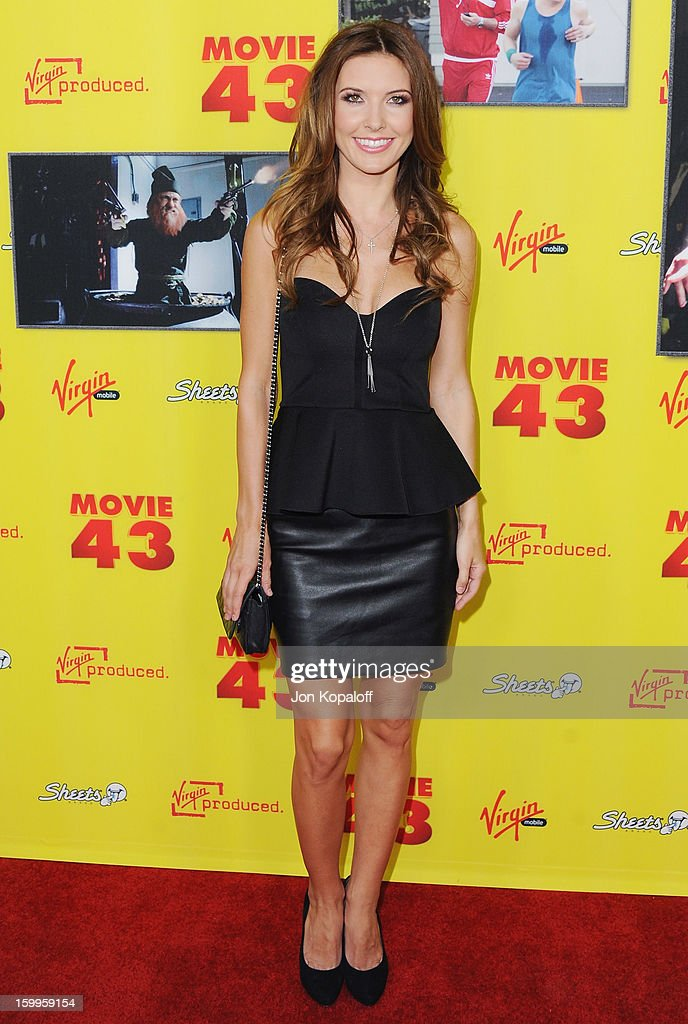 Actress Audrina Patridge arrives at the Los Angeles Premiere 'Movie 43' at Grauman's Chinese Theatre on January 23, 2013 in Hollywood, California.