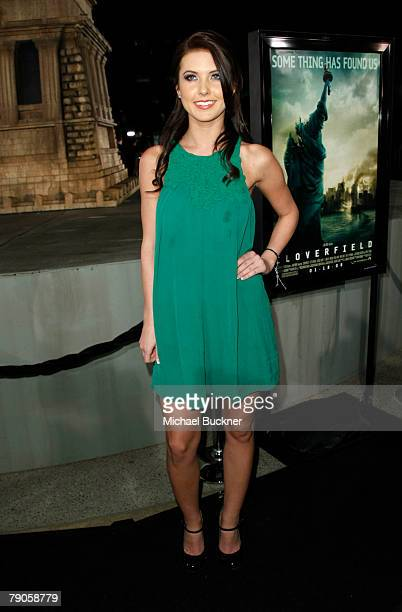 Actress Audrina Patridge arrives at the Los Angeles premiere of Paramount's Cloverfield at the Paramount Studios Lot on January 16 2007 in Los...