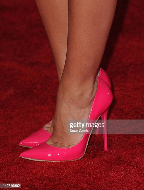 Actress Audrina Patridge attends the Los Angeles premiere of 'Marvel's Avengers' at the El Capitan Theatre on April 11 2012 in Hollywood California