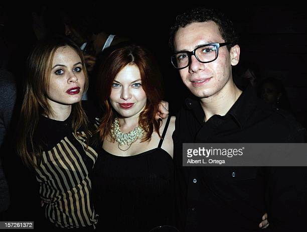 Actress Augie Duke actress Amanda Alch and actor Marc Donato attend the Birthday Party for Model/actress Chanel Ryan also celebrating the release of...