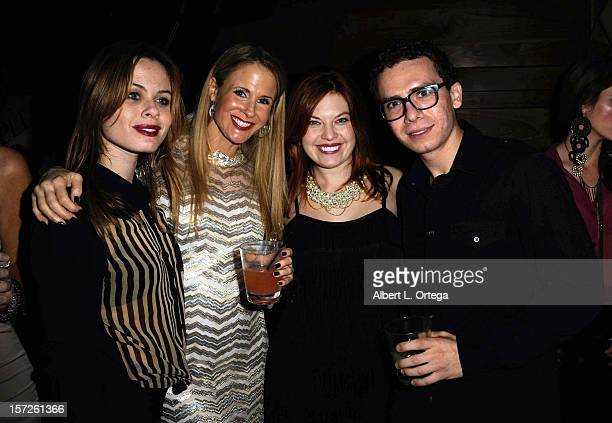 Actress Augie Duke actress Chanel Ryan actress Amanda Alch and actor Marc Donato attend the Birthday Party for Model/actress Chanel Ryan also...