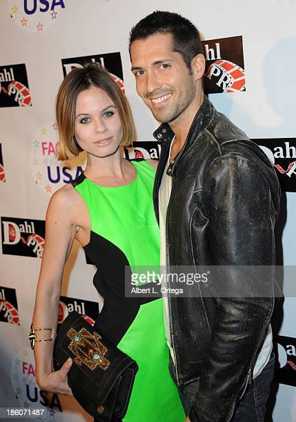 Actress Augie Duke and actor Patrick Cronen arrive for The Black Dahlia Haunting DVD Release Party held at The Station Hollywood on October 15 2013...
