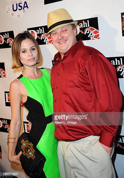 Actress Augie Duke and actor Sean Mcenna arrive for The Black Dahlia Haunting DVD Release Party held at The Station Hollywood on October 15 2013 in...